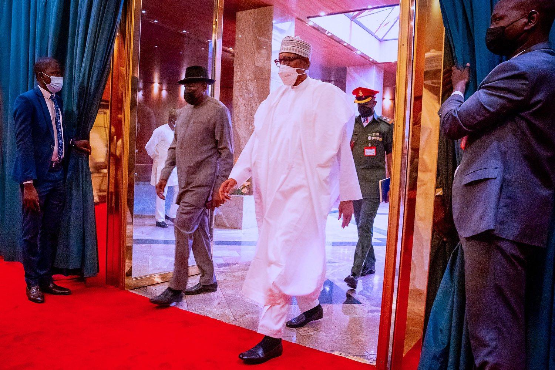 Goodluck Jonathan et Muhammadu Buhari
