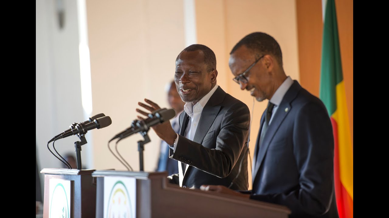 Patrice Talon reçu par Paul Kagame en août 2016 au Rawanda.
