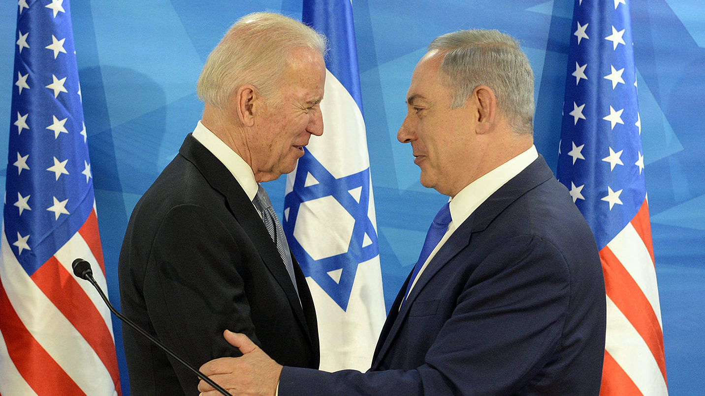 Joe Biden et le Premier ministre israélien Binyamin Netanyahou