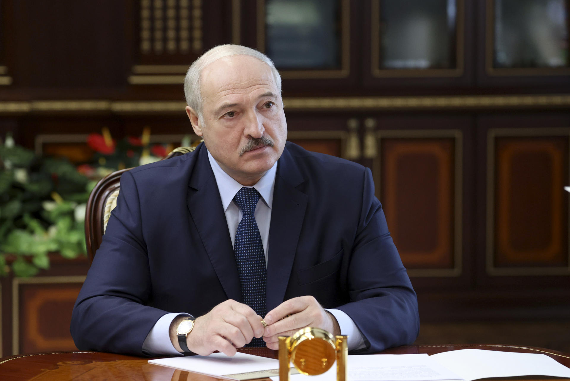 Alexandre Loukachenko à Minsk en septembre 2020. — © Maxim Guchek/BelTA Pool Photo via AP Auteur externe