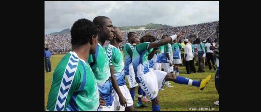 Des joueurs de la Sierra Leone