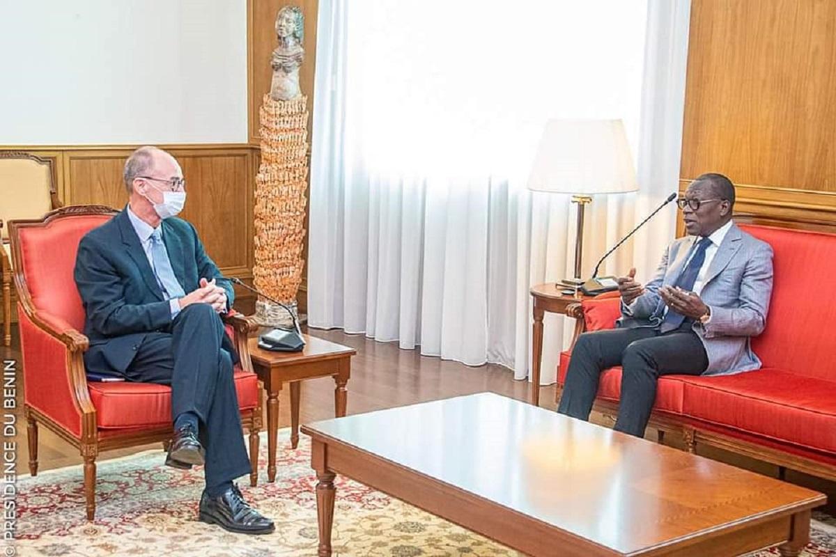 Le président Patrice Talon a reçu en audience ce jeudi 10 juin 2021, l'Ambassadeur de la République fédérale d'Allemagne au Bénin