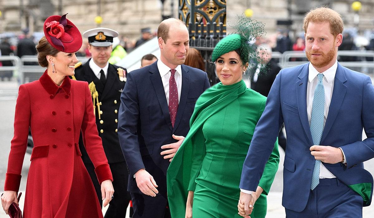 Meghan, Harry, William et Kate Middleton @ Extra