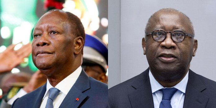 Alassane Ouattara et Laurent Gbagbo